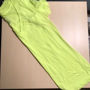 Highlighter yellow boyfriend tee